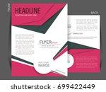 vector business flyer  magazine ... | Shutterstock .eps vector #699422449