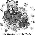 illustration of clover jewel...   Shutterstock .eps vector #699423634