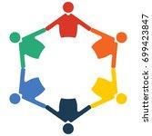 family reunion or diversity...   Shutterstock .eps vector #699423847