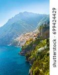 morning view of positano...   Shutterstock . vector #699424429
