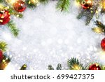 holiday christmas background... | Shutterstock . vector #699427375
