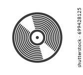 black and white vinyl record... | Shutterstock .eps vector #699428125