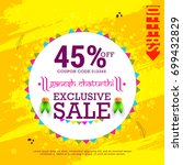 creative sale poster or sale... | Shutterstock .eps vector #699432829
