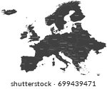 map of europe  without russia ... | Shutterstock .eps vector #699439471