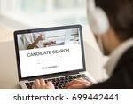 employer searching candidates... | Shutterstock . vector #699442441