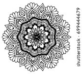 mandalas for coloring book.... | Shutterstock .eps vector #699444679