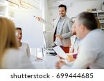 presentation and collaboration... | Shutterstock . vector #699444685