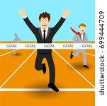 business man finishing the race | Shutterstock .eps vector #699444709