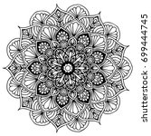 mandalas for coloring book.... | Shutterstock .eps vector #699444745