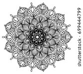 mandalas for coloring book....   Shutterstock .eps vector #699444799