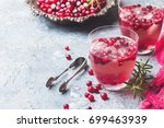 refreshing drink with... | Shutterstock . vector #699463939