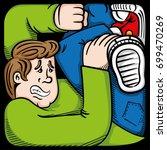 cartoon of a person... | Shutterstock .eps vector #699470269