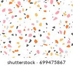 terrazzo pattern. endless... | Shutterstock .eps vector #699475867