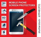 smartphone mobile phone screen...   Shutterstock .eps vector #699481951
