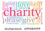 charity word cloud on a white... | Shutterstock . vector #699484999