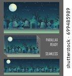 spooky graveyard seamless...