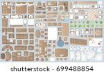 icons set of interior.... | Shutterstock .eps vector #699488854
