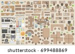 vector set of office. people at ... | Shutterstock .eps vector #699488869