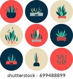 vector illustration of round...   Shutterstock .eps vector #699488899