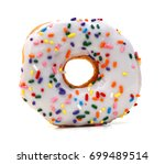 Donut Isolated On White...
