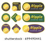 A Set Of Ripple Accepted Sign...