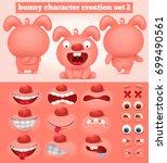 creation set of cartoon... | Shutterstock .eps vector #699490561