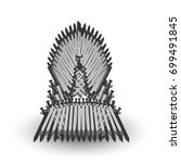 iron throne for computer games... | Shutterstock .eps vector #699491845