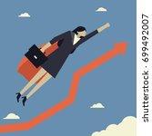 super businesswoman with... | Shutterstock .eps vector #699492007