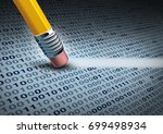 removing computer data and... | Shutterstock . vector #699498934