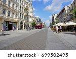 piotrkowska street  lodz poland ... | Shutterstock . vector #699502495