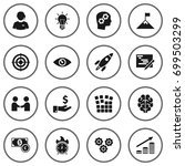 set of 16 idea icons set... | Shutterstock .eps vector #699503299