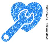 grunge heart surgery icon with... | Shutterstock .eps vector #699503851