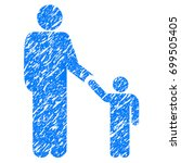 grunge father with son icon... | Shutterstock .eps vector #699505405