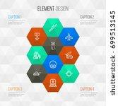 warfare outline icons set.... | Shutterstock .eps vector #699513145