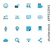 internet colorful icons set....   Shutterstock .eps vector #699513541