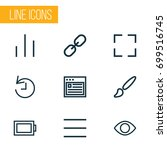 user outline icons set....