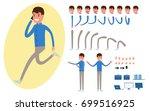 businessman character creation... | Shutterstock .eps vector #699516925