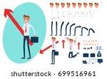 businessman character creation... | Shutterstock .eps vector #699516961