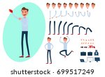 young man character creation... | Shutterstock .eps vector #699517249