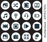 multimedia icons set.... | Shutterstock .eps vector #699517351