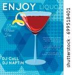 red cosmopolitan cocktail in... | Shutterstock .eps vector #699518401