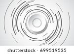 abstract technological... | Shutterstock .eps vector #699519535