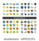 set of icons in different style ... | Shutterstock .eps vector #699521191
