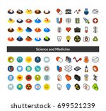 set of icons in different style ... | Shutterstock .eps vector #699521239