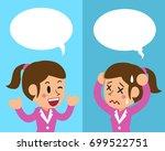 cartoon businesswoman... | Shutterstock .eps vector #699522751