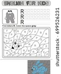 preschool education. puzzle for ... | Shutterstock .eps vector #699526231
