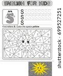 preschool education. puzzle for ... | Shutterstock .eps vector #699527251