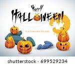 happy halloween white... | Shutterstock .eps vector #699529234