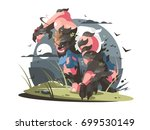 werewolf to turn from man to...   Shutterstock .eps vector #699530149