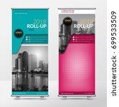 business roll up design... | Shutterstock .eps vector #699533509